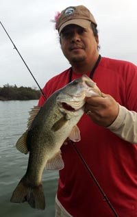 Tino with a good Fayette County bass
