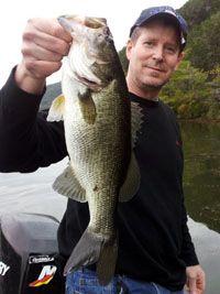 Bobby with a nice Lake Austin bass