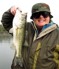 Laura with a nice Bastrop bass