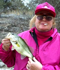 Laura catches yet another Lake Travis bass